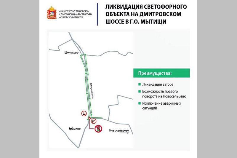 Выключенный светофор на Дмитровском шоссе позволил избежать пробок в выходные